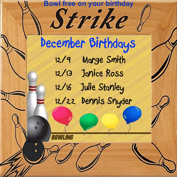 Bowling birthdays December-001