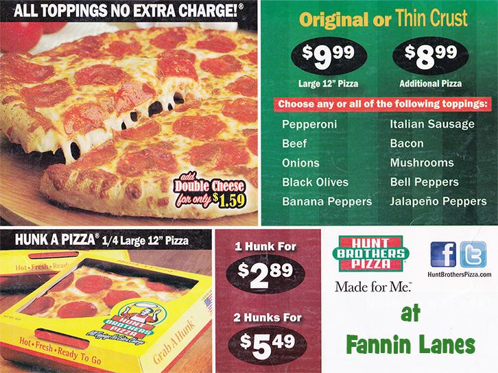 Fannin Lanes menu 2